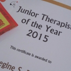 Junior Therapist of the Year (2015)